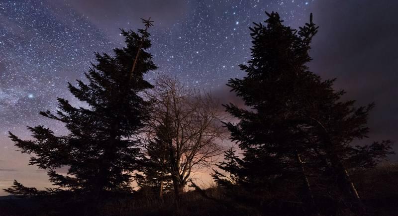 Походи по Карпатах - зоряна ніч