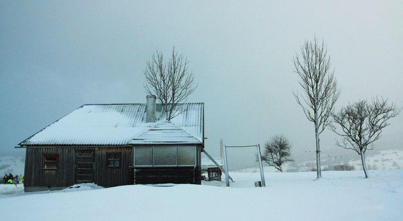 Будиночок в Карпатах зимою