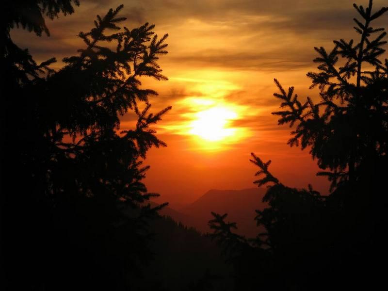 Закат на полонині Лисяча