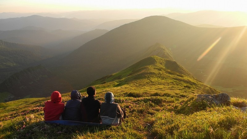 Туристи на Чорногірському хребті