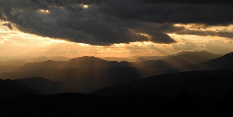 Захід сонця над Мармаросами