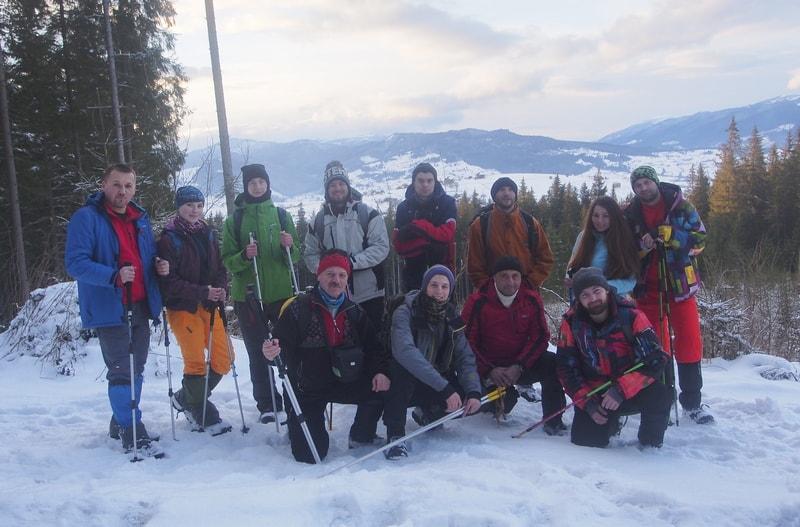 Група перед сходженням на Говерлу