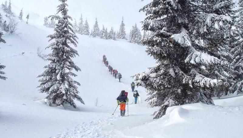 Туристи йдуть на Говерлу